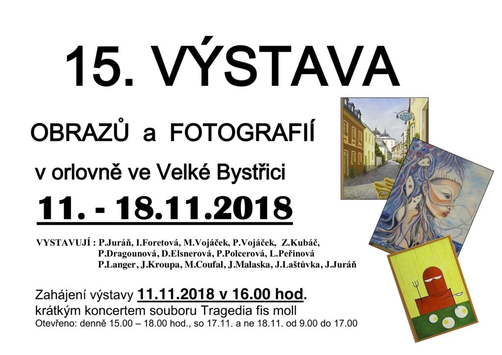 Výstava malířů @ Velká Bystřice | Olomoucký kraj | Česká republika